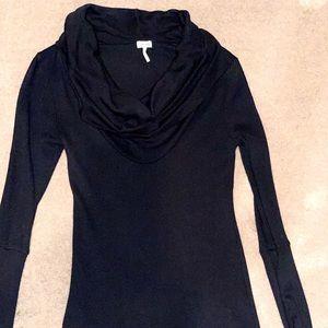 Women's Splendid Black Knit Cowl Neck Top, Med.